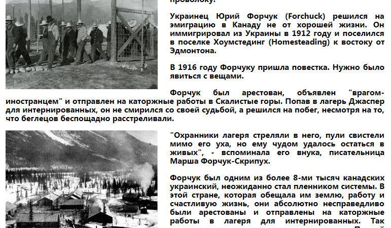 Канадські концтабори для українців
