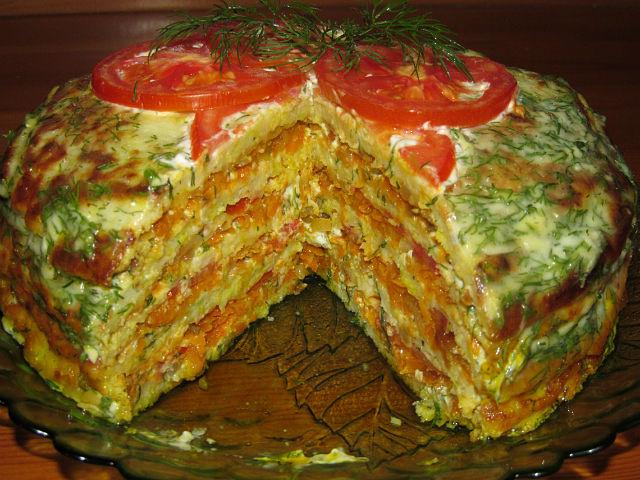 Тортик з кабачків