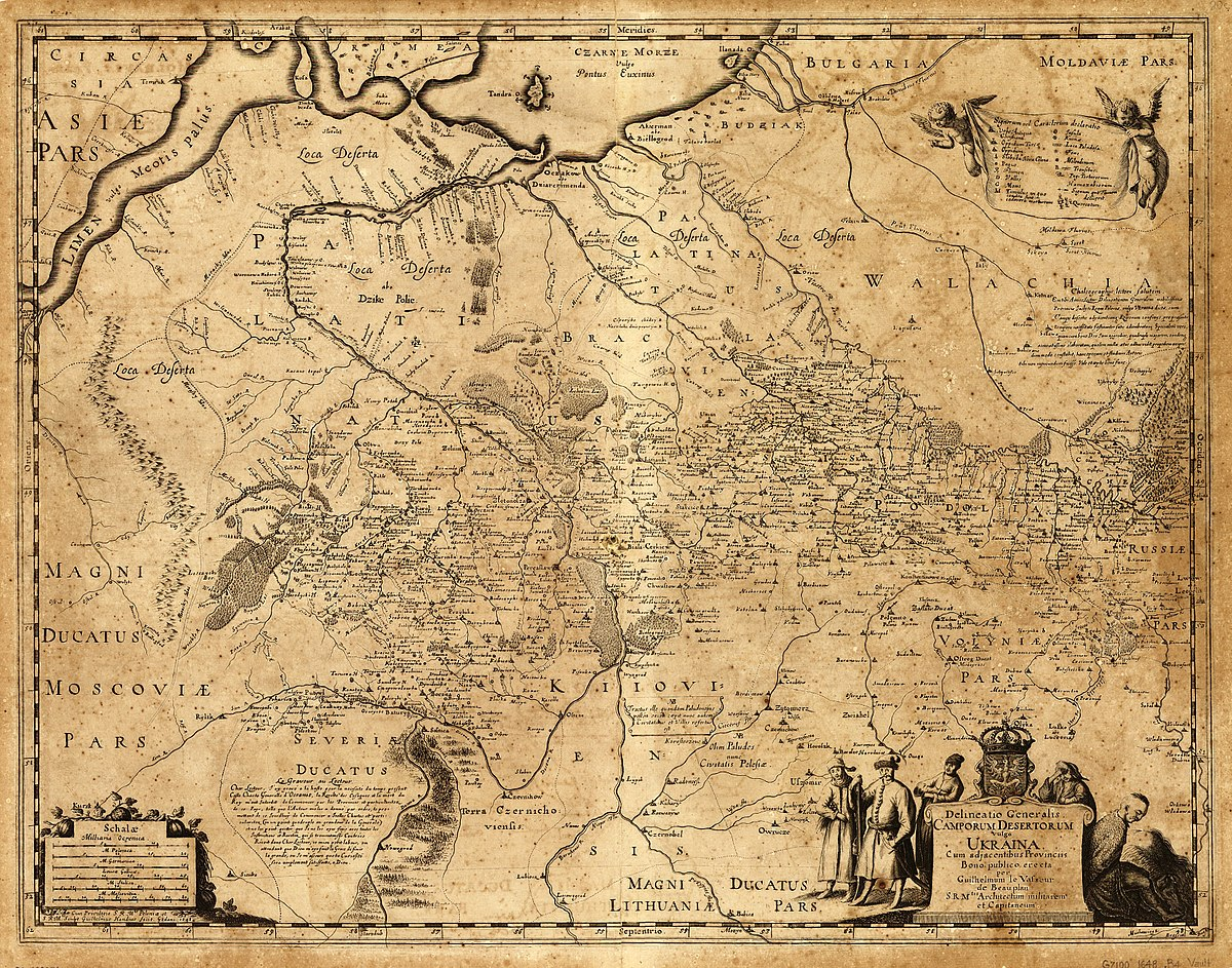 Боплан «Опис України» 1650 р