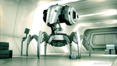 """""""CRAB"""" Робот-поліцейський – автоматизований розгін демонстрацій і охорона важливих об'єктів."""