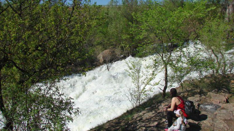 водоспад «Білі камені» на річці Інгулець ( м.Кривий Ріг )