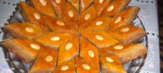 Пахлава з цукровою пудрою – рецепт