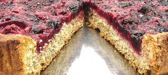 Чорничний пиріг з імбирним тестом – рецепт