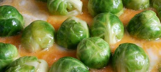 Брюссельська капуста під соусом бешамель – рецепт