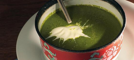 Крем-суп зі шпинату і крес-салату – рецепт