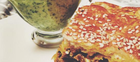 Грецький пиріг з м'ясом – рецепт