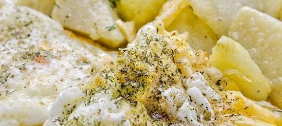 Картопля з омлетом – рецепт