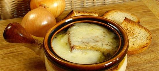 Цибулевий суп з сиром – рецепт