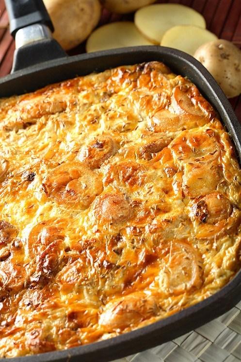 Картопляна запіканка з солоним огірком – рецепт