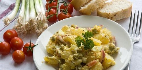Картопляний салат з горошком і кінзою – рецепт