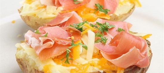Картопля з шинкою – рецепт