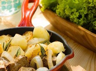 Картопля з огіркової травою – рецепт