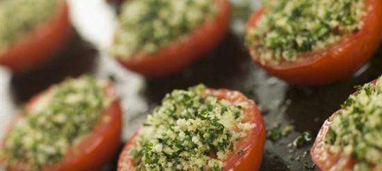 Печені помідори з часником – рецепт