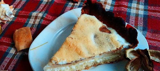 Пісочний сирно-яблучний пиріг – рецепт