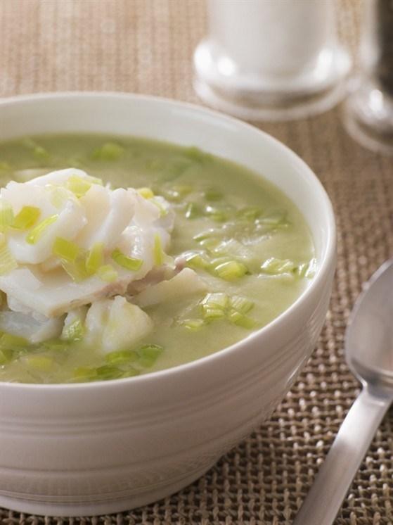 Суп-пюре з риби і зеленого горошку – рецепт