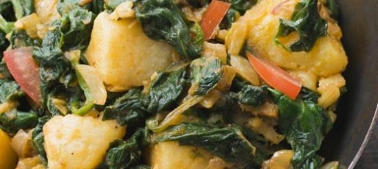 Шпинат з картоплею – рецепт