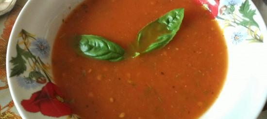 Томатний суп з базиліком – рецепт