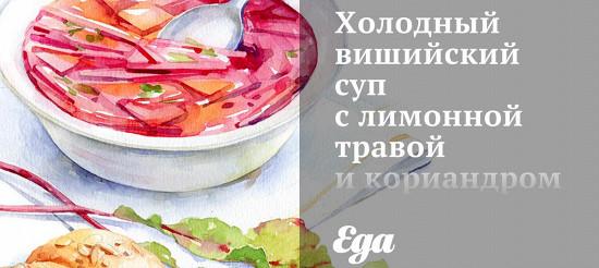 Холодний вішійскій суп з лимонною травою і коріандром – рецепт